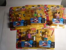 Five Simpson Action Figures - Mint on Card -