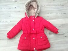 (Y9) JASPER CONRAN BABY GIRLS LOVELY AUTUMN WINTER HOODED COAT AGE 12-18MTHS