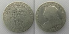 Collectable Silver 1896 - Queen Victoria - One Shilling Coin Lot 4