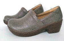 Boc Mules Clogs Lehana Women's 7.5 Gray Pebbled Nursing Slip Ons Comfort Shoes