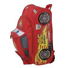 "Small Backpack - Disney - Cars 2 - Lightning Mcqueen 12"" New Book Bag 603670"