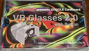 Funsparks GOOGLE Cardboard VR Glasses 2.0 with Button ~ New in Wrap