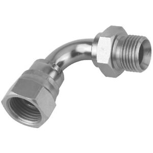 """Equal BSPP Male x BSPP Swivel Female 90° Swept Elbow 60° Cone Sizes 1/4"""" to 2"""""""