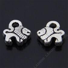 30pc Tibetan Silver Small Lion Animal Pendant Charms Beads Jewellery Craft PJ482