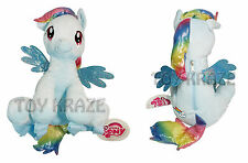 "MY LITTLE PONY PLUSH BACKPACK! RAINBOW DASH SOFT DOLL GIRLS BAG HASBRO 14"" NEW"