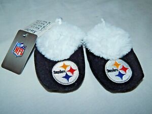 Pittsburgh Steelers Baby Booties Size 6/9 Months NEW Slipper Shoes Socks Footies
