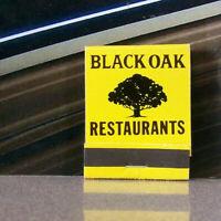 Vintage Matchbook B8 California Bakersfield Vacaville Pasa Robles Black Oak Tree