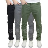 DML Jeans Men's Branded Slim Fit Stretch Chinos - Available in 3 Colours