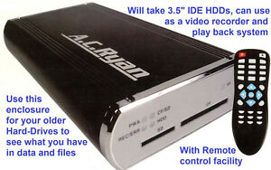 """Digital Video Recorder & External HDD Box """"A.C.Ryan ALUBOXDVD"""" for 3.5"""" IDE HDD"""