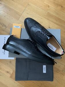 THOM BROWNE PEBBLE GRAIN LEATHER LONGWING BROGUE UK10 US11 NEW 100% AUTHENTIC