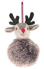 Walton and Co Festive  Festive Deer Christmas Hanging Decoration