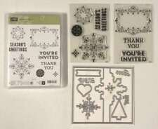Stampin Up * LETTERPRESS WINTER * STAMPS & SNOWFLAKE CARD THINLITS * BRAND NEW