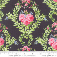MODA Fabric ~ GUERNSEY ~ by Brenda Riddle (18640 17) Charcoal - by the 1/2 yard