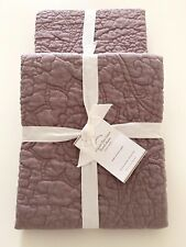 NWT Set of 2 Pottery Barn LAVENDER Belgian Flax Linen FLORAL SHAM Euro 26 x 26
