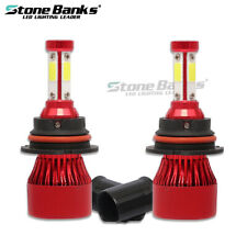 US 9007 HB5 Hi/Lo Bulb COB LED Headlight Conversion Kit 72W 16000LM Super Bright