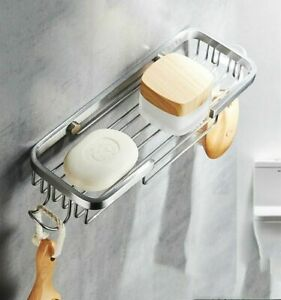 Stainless Steel Wall Mounted Shower Soap Holder Storage Box Container Soap Dish