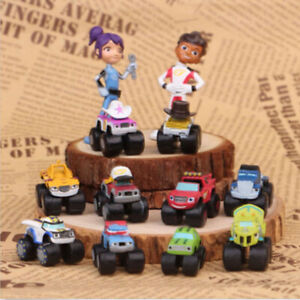 Blaze And The Monster Machine 12 PCS Action Figure Kids Toys Gift Cake Topper