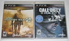 PS3 Video Game Lot - Call of Duty: Modern Warfare 2 (New) Call of Duty Ghosts