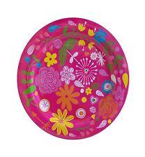 Melamin Teller Flowers pink 25 cm Camping Geschirr Garten Zelten Party  NEU