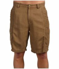 Tommy Bahama Key Grip Shorts Men 40 British Bourbon Faille Weave Flat Front NWT