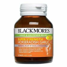 BLACKMORES SUPER STRENGTH HORSERADISH GARLIC + PLUS VITAMIN C 50 TABLETS SINUS