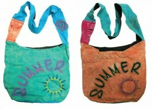 FABRIC BAG SUMMER SHOULDER BEACH SHOPPING BAG FESTIVAL BAG  STRAP POCKET