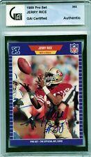 1989 Pro Set Jerry Rice Autograph GAI Certified San Francisco 49ers HOF 💎