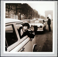 THE BEATLES POSTER PAGE . 1964 PAUL MCCARTNEY TAXI CHAMPS ELYSEES PARIS  . H20