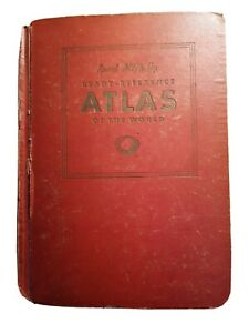 Rand McNally Ready-Reference Atlas of the World 1942 Hardcover
