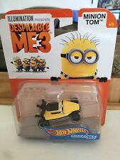 BRAND NEW Hotwheels Character Cars DESPICABLE ME 3 MINION TOM 4/6