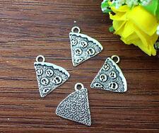 10pcs pizza Tibetan Silver Bead charms Pendants DIY jewelry 17x15mm