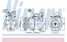 NISSENS Compresseur de climatisation 12V pour FORD RANGER 890059 - Mister Auto