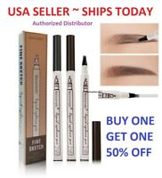 3 Tip Waterproof Eyebrow Microblading Ink Pen Pencil Tattoo 3D Fork Makeup