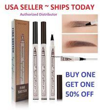 3 Tip Waterproof Eyebrow Microblading Ink Pen Pencil Tattoo 3D Fork Makeup