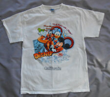 Disney California adult M medium white t shirt Mickey Mouse Donald Duck Goofy 28