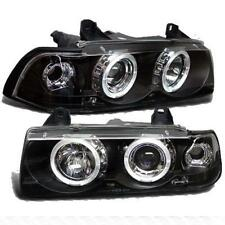 BMW 3 Series E36 Coupe & Convertible Black Angel Car Headlights 1 Pair