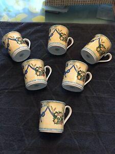 Villeroy boch castellina Kaffeebecher groß, gebraucht, 6 Stück zusammen