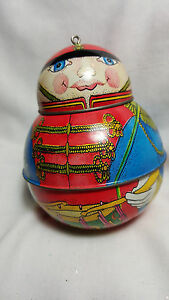 1991 Hallmark Ornament Keepsake Jolly Wolly Soldier Metal Candy Container