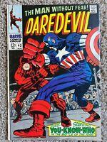 Daredevil #43 ~ Captain America App 1968 Marvel Comics SA > Zoom in on pics!