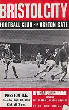 Football Programme>BRISTOL CITY v PRESTON NORTH END Sept 1969