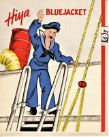 "Vintage Greeting Card ""Hiya Bluejacket"" Military WWII with Envelope Navy"