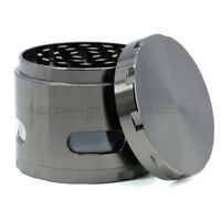 63mm 4 Piece Zinc Alloy Tobacco Smoke Spice Grinder Herb Mill Crusher Gun Black