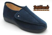 Ladies Slipper - DeValverde 124 Navy Hook and Loop Adjustable