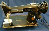 Vintage 1941 Singer 201 Sewing Machine Excellent Working Condition With Extras