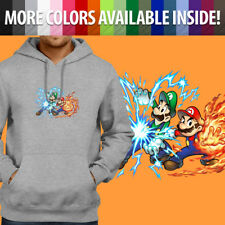 Super Mario Bros Luigi Power Up Fireball Game Pullover Sweatshirt Hoodie Sweater