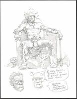 Mike Hoffman Original Fantasy Art Pencil comic artist