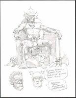 Mike Hoffman Original Fantasy Art Pencil comic artist