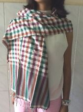 Krama tradicional Echarpe Khmer multicolor 100 % algodón Camboya Tejido mano B15
