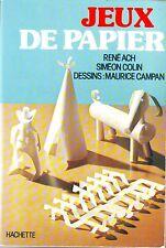 Jeux de Papier* ed Hachette * Pliage Découpage Tressage Origami Travaux manuels