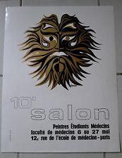 Affiche SALON Faculté Médecine Paris 1977 BÉNICHOU